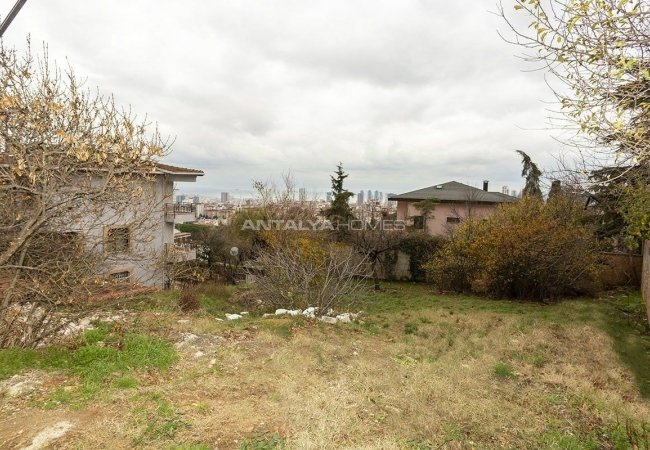 926 M² Investment Land with Sea View in Istanbul Kartal