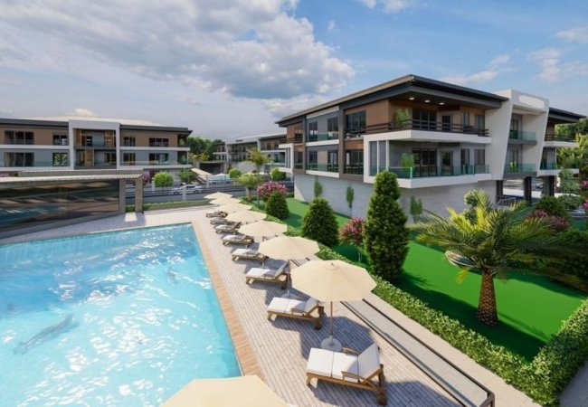 Smart Apartments for Sale in a Complex with Pools in Yalova