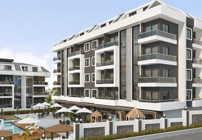 Central Apartments Intertwined with Nature in Alanya Oba
