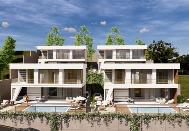 Brand New Villas with Castle and Sea Views in Alanya Turkey