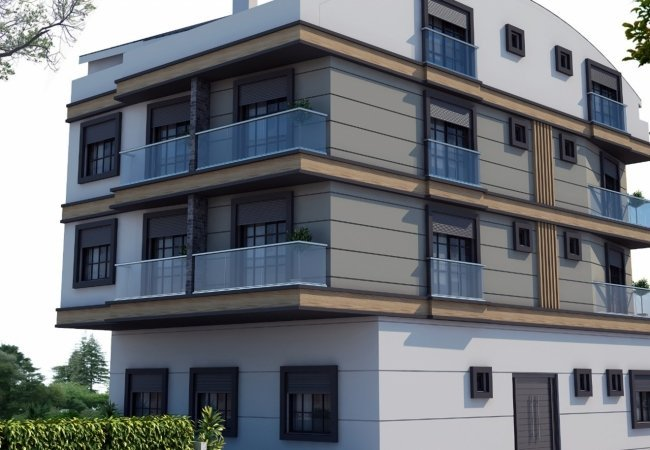 Central Apartments for Sale 350 Mt to the Sea in Antalya