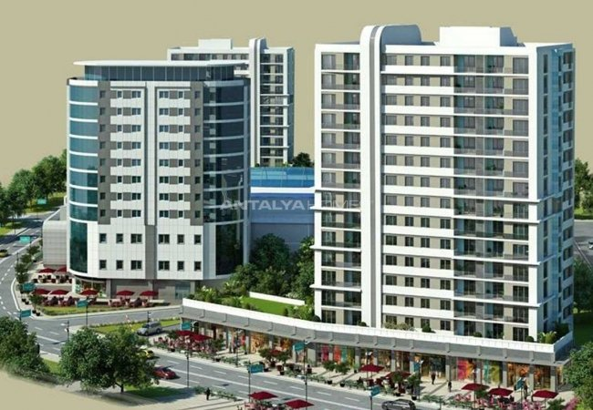 Modern Apartments in a Big Complex in Istanbul Başakşehir