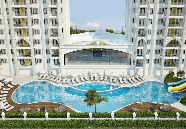 New Apartments in Avsallar Alanya with Nature and Sea View
