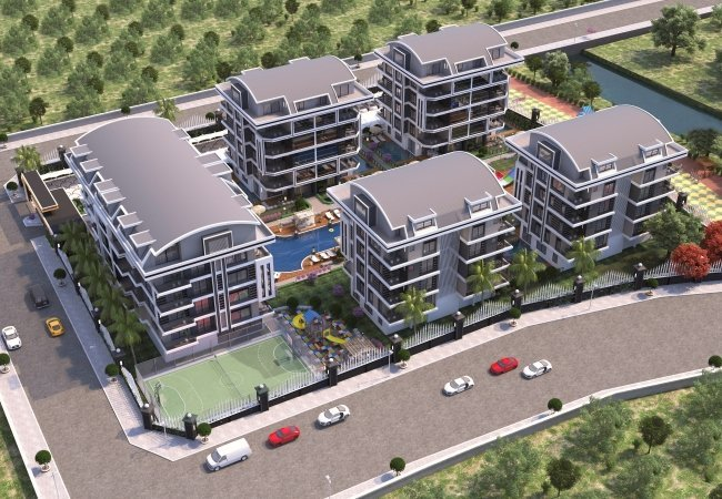 Brand New Alanya Apartments Intertwined Within Nature