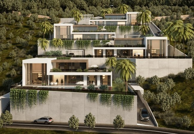 Luxurious Villas Intertwined with Nature in Alanya