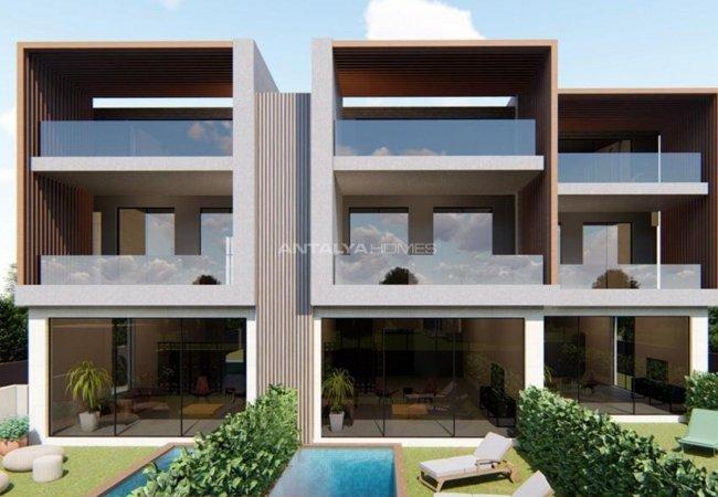 Excellent 3 Bedroom Villas with Parking Lots in Konyaaltı