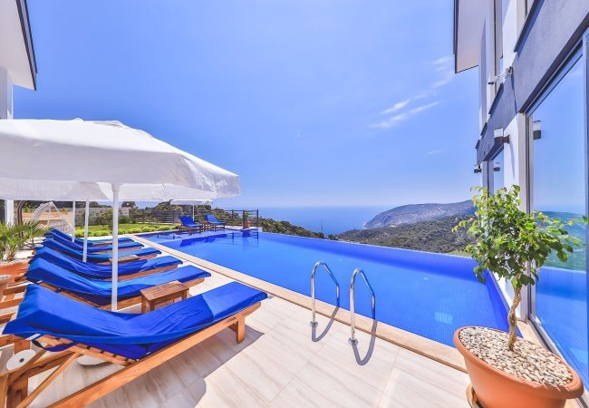 Spacious and Modern Villas with Panoramic Sea View in Kalkan