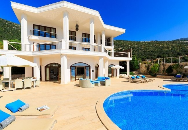 Spacious and Modern Villa with Sea View in Kalkan