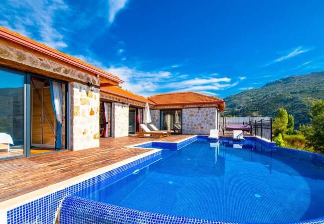 Mountain House with a Swimming Pool in Kas, Islamlar Village