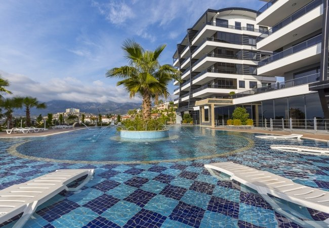 Luxury Flats in a Complex with Rich Facilities in Alanya