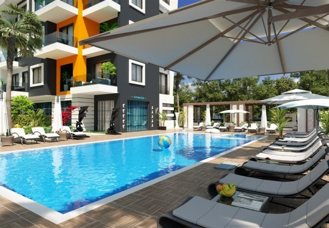 Luxury Apartments in a Complex Close to the Beach in Alanya