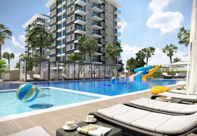 Luxurious Flats in a Complex with a Communal Pool in Alanya