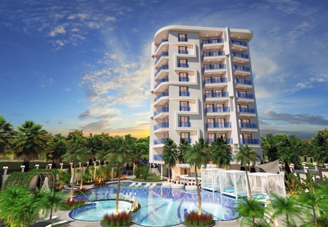 Central Duplex Apartments Close to the Beach in Alanya