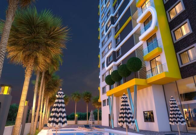 Properties in a Complex Close to Beach in Alanya Mahmutlar