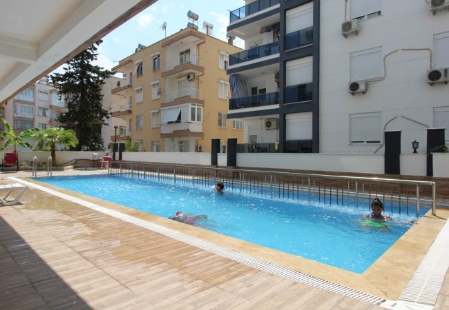 Luxury Apartment in a Secure Complex in Antalya City Center
