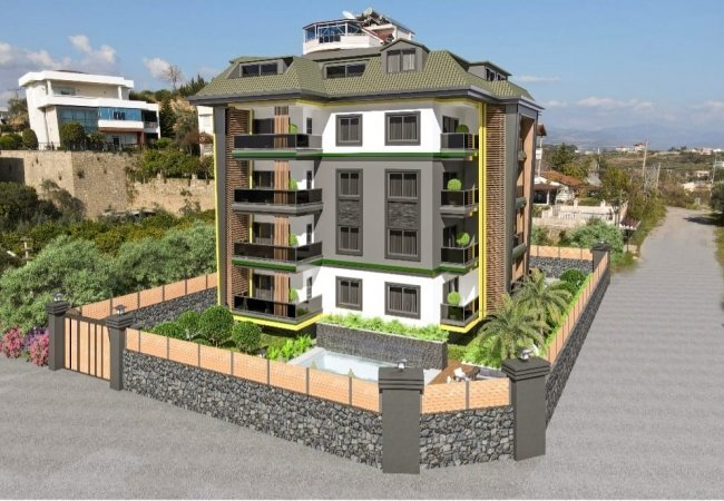 Modernly Designed Flats Available for Credit in Alanya