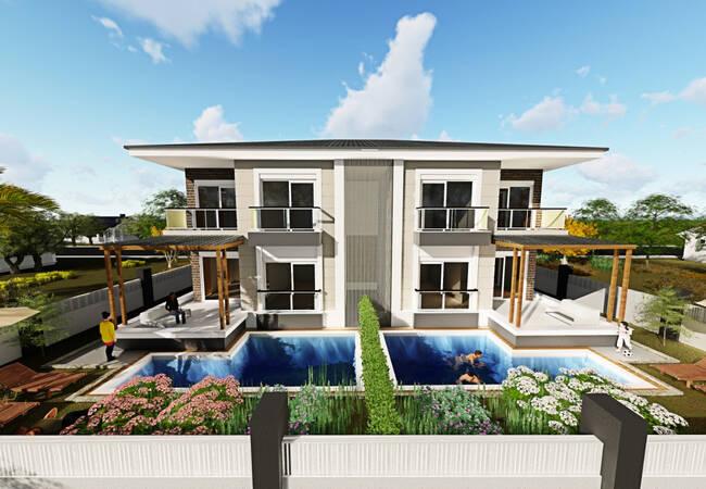 Low-priced Semi Detached Villas in Dosemealti Altinkale