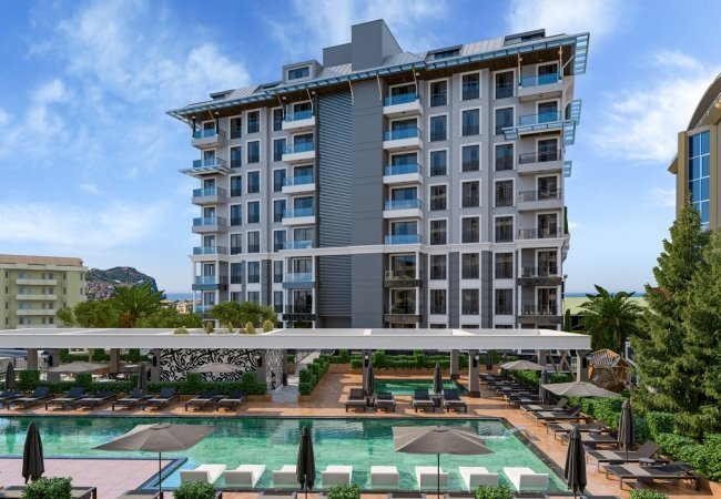 Dazzling City View Flats for Sale in Alanya
