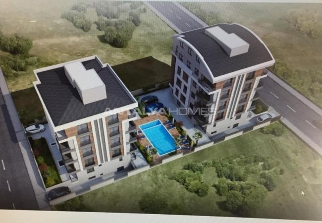 Brand New Flats Within a Secure Complex in Muratpasa Yenigun