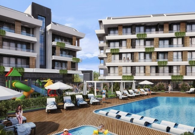New Build Apartments with Swimming Pool in Alanya Oba