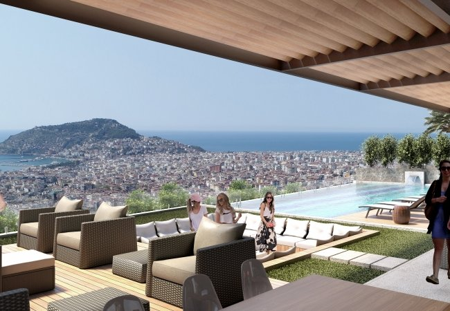 Advantageously Located Apartments in a Complex in Alanya