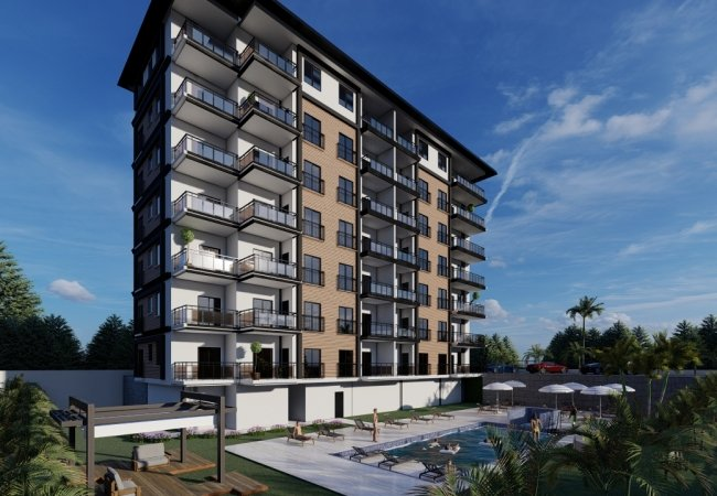 Modern Designed Flats Close to the Sea in Alanya Antalya