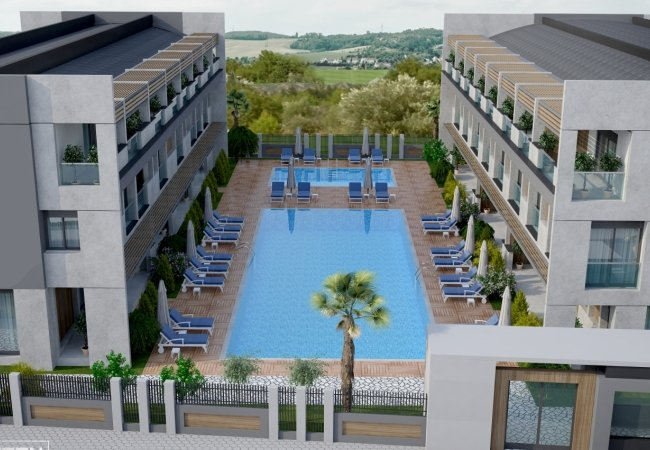 Flats in a Luxury Complex with Pools in Antalya Lara