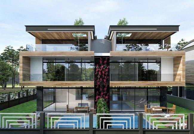 Semi-detached Villas Close to the Beach in Antalya Guzeloba