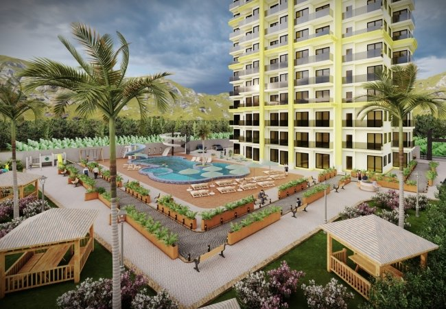 Luxurious Investment Apartments for Sale in Alanya Mahmutlar