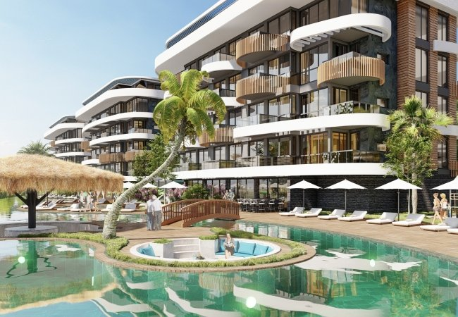 Modern Flats with Mediterranean Views in Alanya Kestel