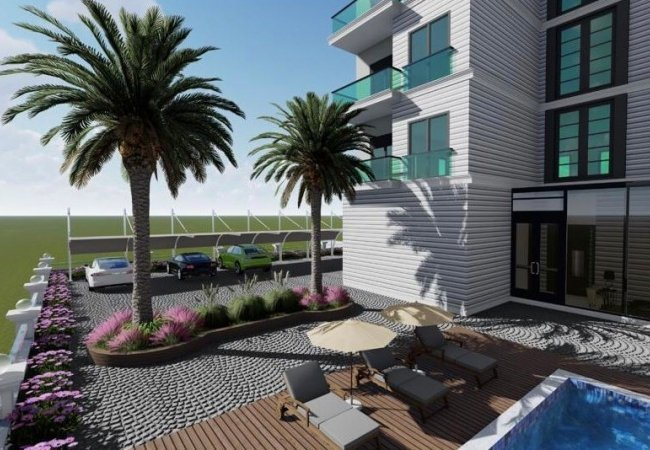 Well Located Modern Apartments Close to Sea in Alanya
