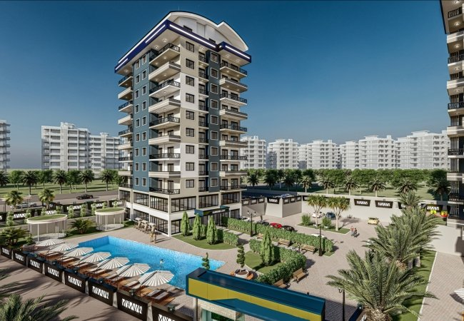 Luxe Properties in a Project with Rich Facilities in Alanya