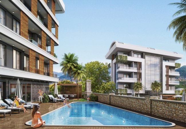 Contemporary Flats Within Easy Reach of Amenities in Alanya