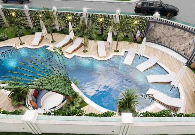 Ultra Luxury Flats in Alanya Center Close to Cleopatra Beach