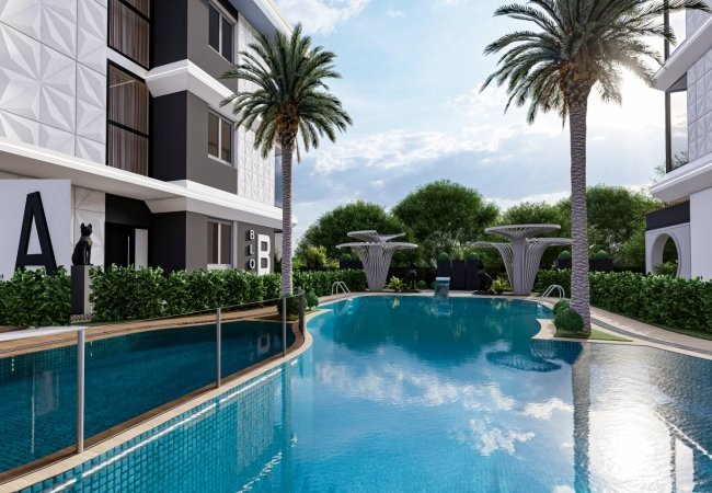 Apartments with Rich Social Facilities for Sale in Mahmutlar