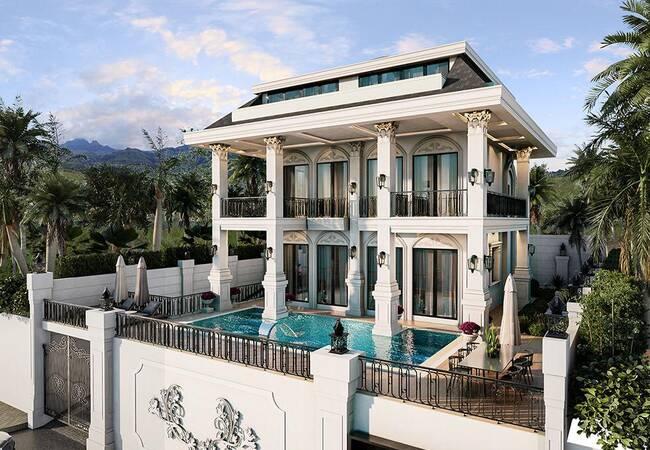 Italienische Architektonisch Villa Mit Meerblick In Alanya