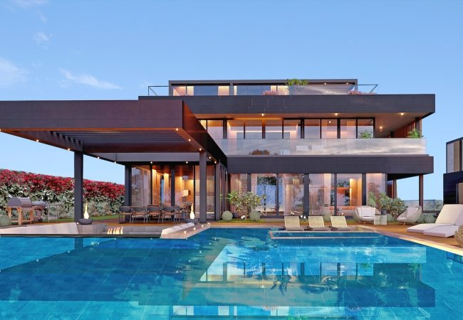 Modernly Designed Villas with a Private Pool in Bodrum