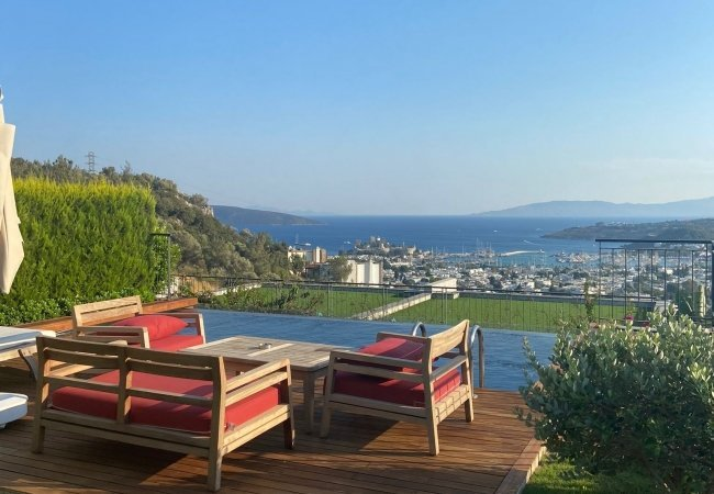 Centrally Located Furnished Semi Detached Villas in Bodrum