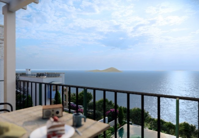 Elegant Flats with Gardens and Terraces in Bodrum Adabuku