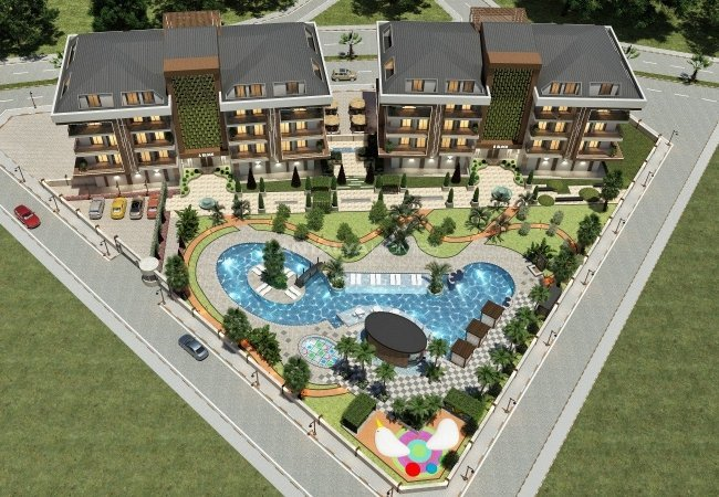 Centrally Located Apartments with Luxury Design in Oba