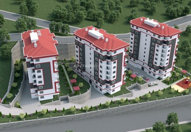 Great View Apartments in a Secure Complex in Trabzon