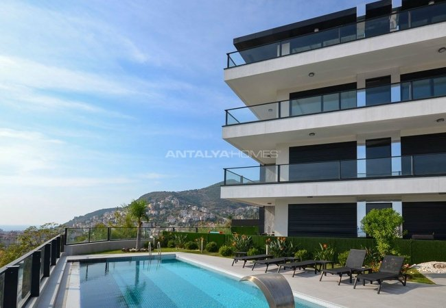 Sea and Nature View Duplex Apartments in Alanya Center