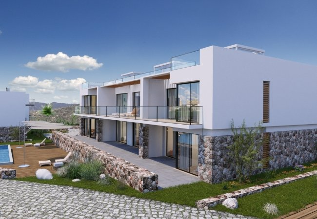 Modern Apartments with Gardens in Kucukerenkoy North Cyprus