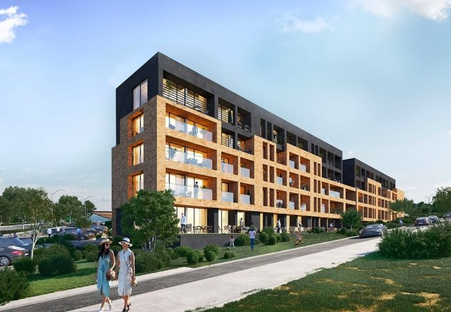 Brand-new Apartments with Horizontal Architecture in Golbasi