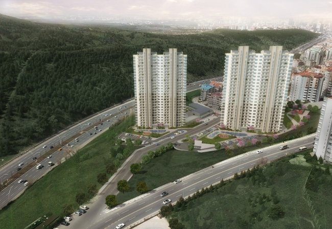 Ankara Apartments in High Standards Within Luxurious Complex
