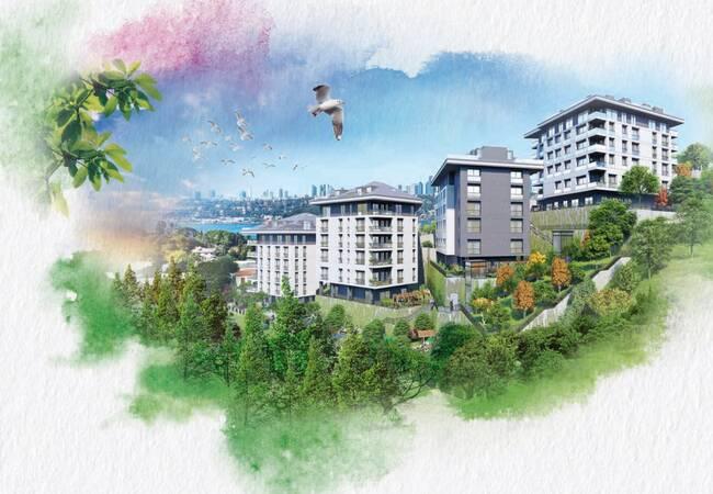 Роскошные Квартиры в Стамбуле с Видом на Босфор в Ускюдаре
