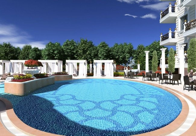 Seafront Apartments in Alanya, Mahmutlar with Luxury Design