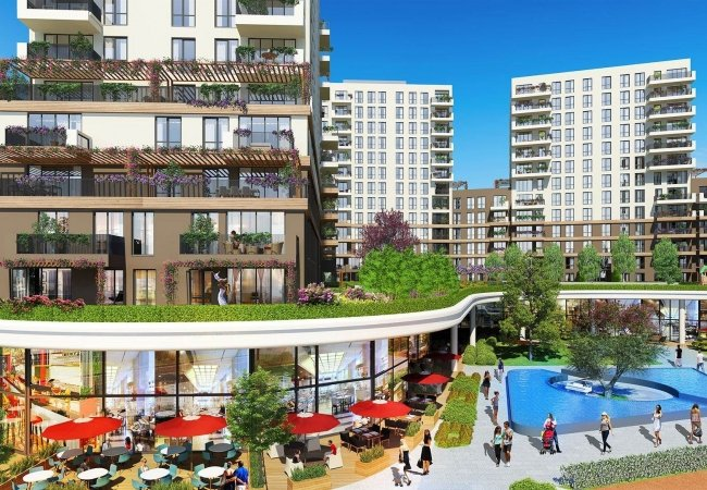 New Apartments Near the Subway in Sancaktepe Istanbul