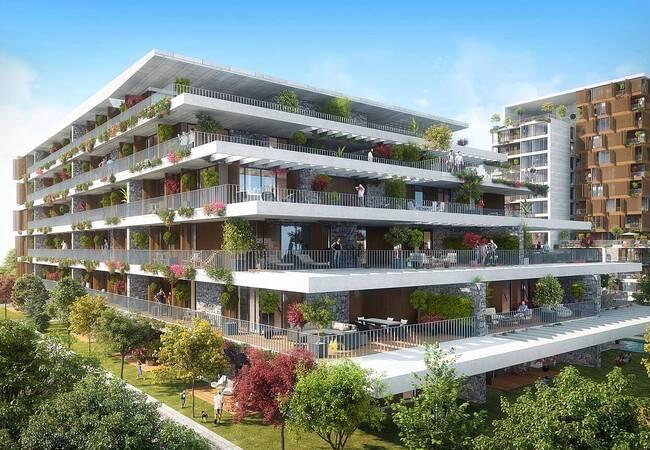 Spacious Flats with Garden Balconies in ümraniye İstanbul