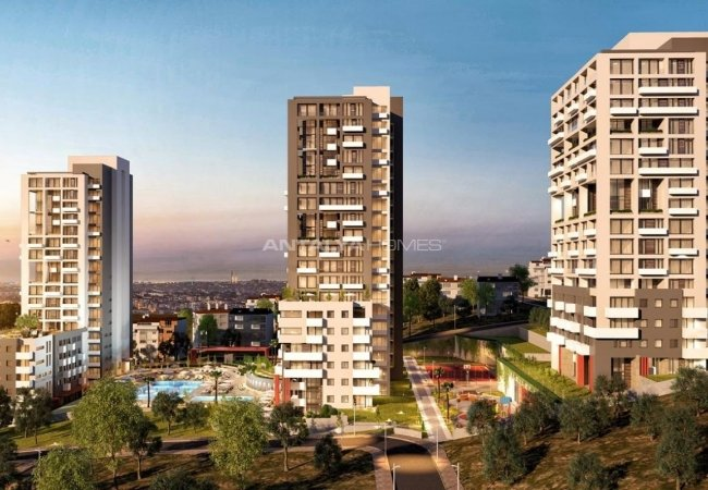 Istanbul Flats with Island View and En-suite Bathrooms in Kartal